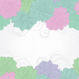 Floral background.Floral background.Wedding card or invitation with flowers on pastel colors. Hand-drawn contour lines and strokes Royalty Free Stock Photography