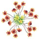 Floral background. Floral card. Watercolor floral bouquet. Birthday card. Floral background. Floral card. Watercolor floral bouquet. Birthday card stock illustration