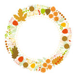 Floral background, floral frame, autumn Royalty Free Stock Photos