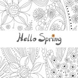 Floral background with copy space Royalty Free Stock Images