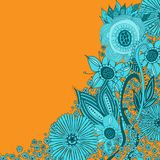 Floral background - floral pattern with copy space Royalty Free Stock Photo