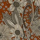 Floral background - brown floral pattern Stock Image