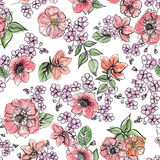 Floral background. Flower border. Flourish frame Royalty Free Stock Photography