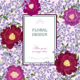 Floral background. Flower bouquet vintage cover. Flourish card w Royalty Free Stock Photography