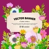 Floral frame design Stock Image