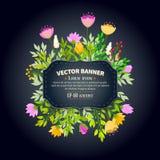 Floral frame design Stock Photos