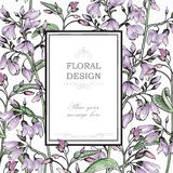 Floral background. Flower greeting card Stock Images