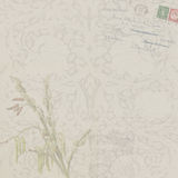 Vintage Floral Background with Postcard Royalty Free Stock Photography