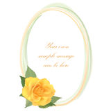 Floral background. Flower Rose frame Royalty Free Stock Photography