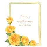 Floral background. Flower Rose frame Stock Images