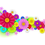 Floral background of flowers. Floral background with bright dahlias Stock Photo