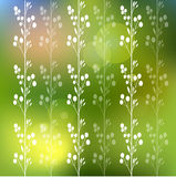 Floral background with flowers and leaves Royalty Free Stock Image