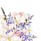 Floral background with flowers Royalty Free Stock Images