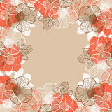 Floral background with flowers of peony Royalty Free Stock Images