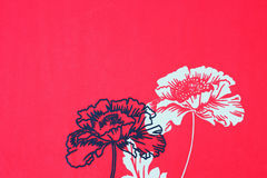 Floral background with flowers . red wallpaper with flower pattern background Stock Photo