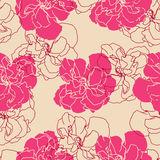 Floral background. Flowers  seamless pattern background Stock Images