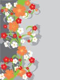 Floral background with flowers. Stock Image