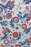 Floral Background. Fragment of colourful retro tapestry textile pattern with floral ornament useful as background Royalty Free Stock Photography