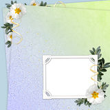Floral background with  frame Stock Image
