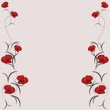 Floral background frame Royalty Free Stock Images