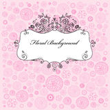 Floral background with frame Royalty Free Stock Photo