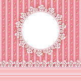 Floral background with frame Royalty Free Stock Photos