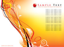 Floral background / futuristic design. Abstract background / futuristic design - vector format included Stock Photos