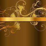 Floral Background with Golden Band. Vector illustration with elegant floral background Stock Image