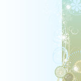 Floral background in gray-blue Stock Photography
