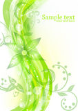 Floral background in green color Stock Image