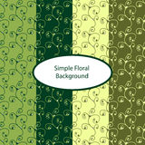 Floral background. Green floral seamless background. Vector illustration Royalty Free Stock Images