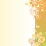 Floral  background in greenish-orange Stock Images