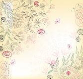 floral background, greeting card Stock Photos