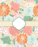 Floral background, greeting card Stock Image