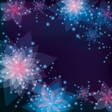 Floral background, greeting or invitation card Stock Images