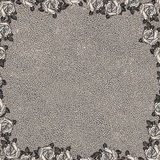 Floral background with grunge texture. Vintage floral background with grunge texture Stock Image