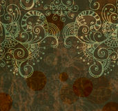 Floral background, hand drawn flowers Royalty Free Stock Photos