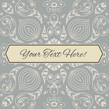 Floral background in hand drawn style. Stock Photography