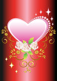 Floral background heart Royalty Free Stock Image