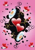 Floral background heart Stock Images