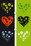 Floral background, heart Royalty Free Stock Photo