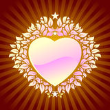 Floral background heart. Abstract floral background heart, vector illustration, this illustration may be usefull as designer work Royalty Free Stock Images