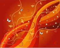 Floral Background - illustrati. Floral Background in red - illustration stock illustration