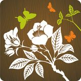 Floral background illustration Royalty Free Stock Photo