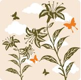 Floral background illustration Royalty Free Stock Photography