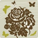 Floral background illustration Stock Photo