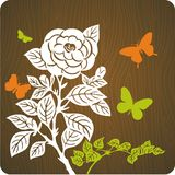 Floral background illustration royalty free stock photos