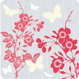 Floral background illustration royalty free stock image