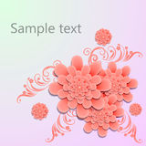 Floral background.  illustration Royalty Free Stock Photos