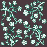 Floral background illustrations. Colorful full colors Stock Photos